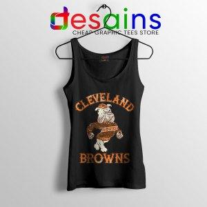 Retro Symbol Cleveland Browns Black Tank Top NFL