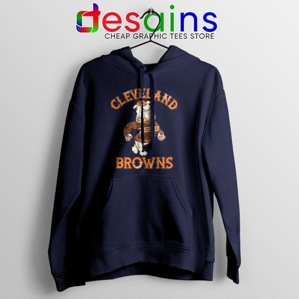 Retro Symbol Cleveland Browns Navy Hoodie NFL