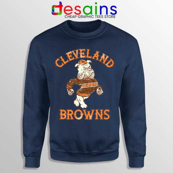 Retro Symbol Cleveland Browns Navy Sweatshirt NFL