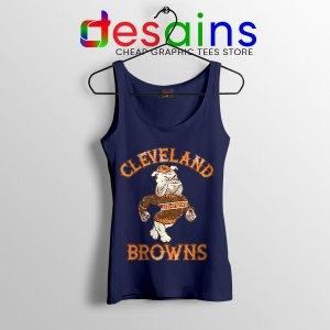 Retro Symbol Cleveland Browns Navy Tank Top NFL