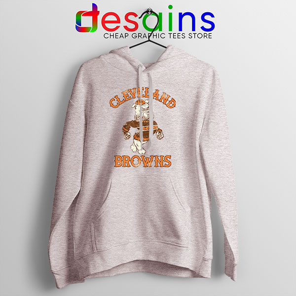 Retro Symbol Cleveland Browns Sport Grey Hoodie NFL