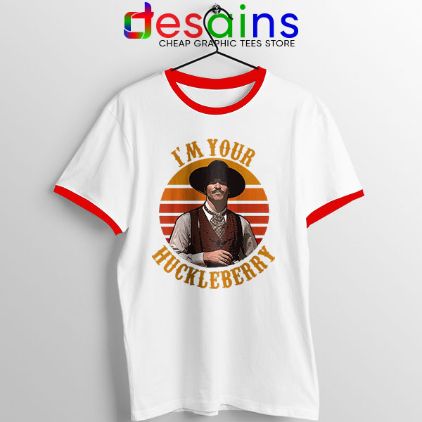 Vintage Your Huckleberry Red Ringer Tee Tombstone
