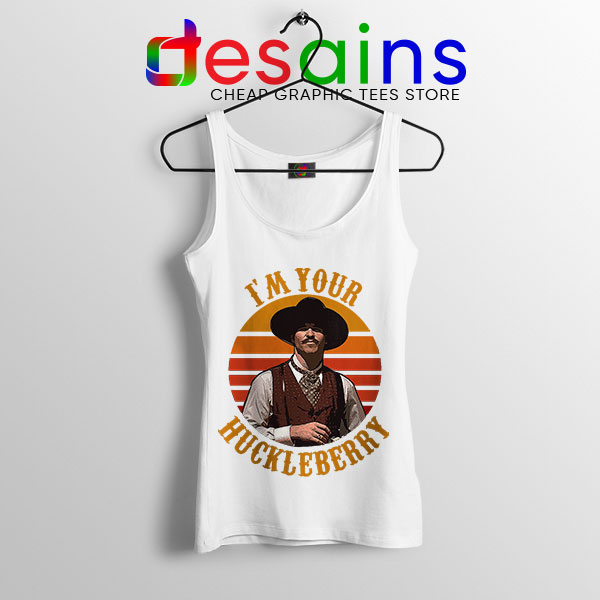 Vintage Your Huckleberry White Tank Top Tombstone
