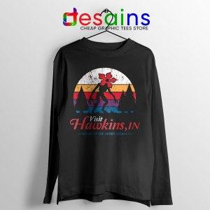 Visit Hawkins Stranger Things Long Sleeve Tee The Upside Down