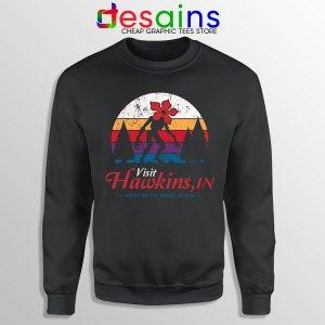 Visit Hawkins Stranger Things Sweatshirt The Upside Down