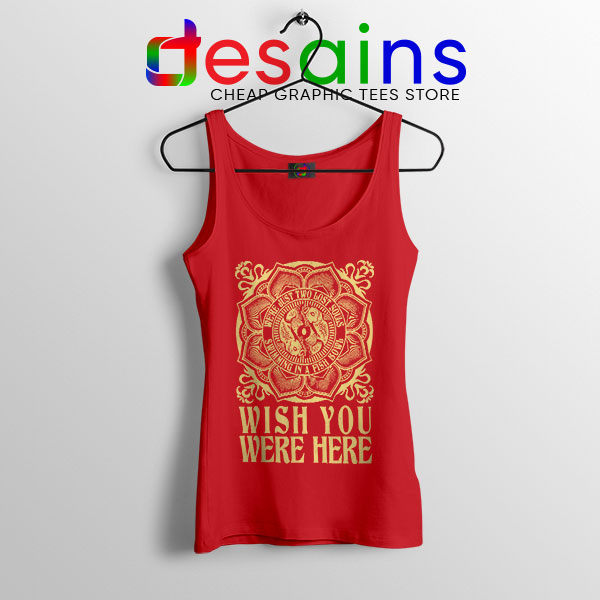 Wish You Were Here Art Red Tank Top Pink Floyd Band