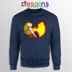 Wu Tang Clan Symbol Halloween Navy Sweatshirt Horror Nights