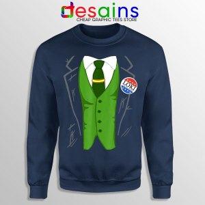 Best Loki President Suit Navy Sweatshirt God of Mischief