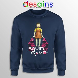 Best Squid Game Design Navy Sweatshirt Netflix Series
