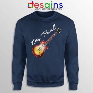 Classic Gibson Les Paul Navy Sweatshirt Guitar Vintage