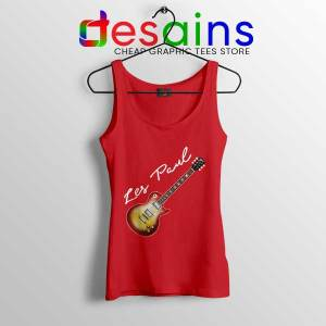 Classic Gibson Les Paul Red Tank Top Guitar Vintage