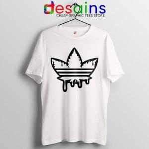Funny Cannabis Three Stripes Tshirt Adidas Parody