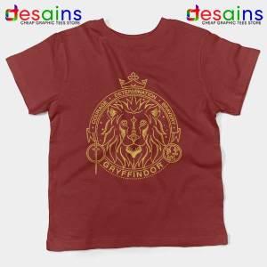 Houses of Hogwarts Lion Red Kids Tee Gryffindor Logo