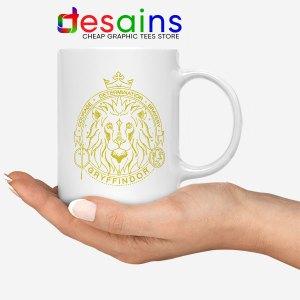 Houses of Hogwarts Lion WHite Mug Gryffindor Logo