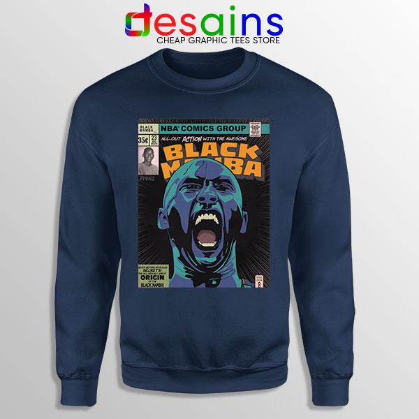 Mamba Kobe Bryant Comic Navy Sweatshirt NBA Legend