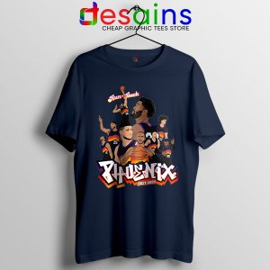 Phoenix Suns Roster Art Navy Tshirt New Season