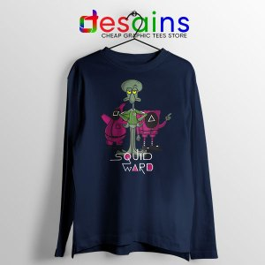 Squidward Squid Game Navy Long Sleeve Tee Funny