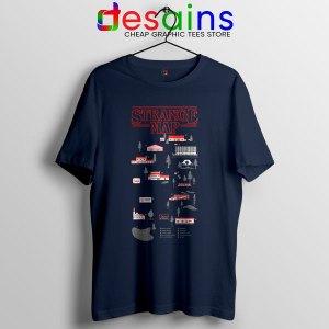 Stranger Things 4 Map Navy Tshirt Hawkins Merch