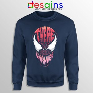 There is Only Carnage Navy Sweatshirt Symbiote Comics