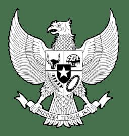 Logo Garuda hitam putih PNG