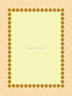 Cream Frame Yasin PNG