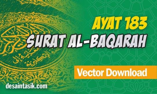 Surat-Al-Baqarah-Ayat-183-Tentang-Puasa-Vector-CDR-PNG-HD-Free-Download