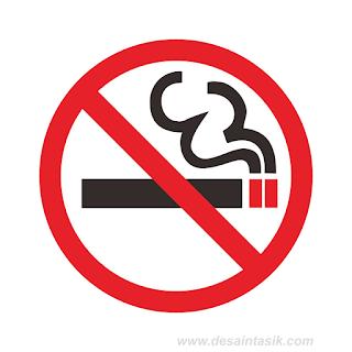 Logo No Smoking Vektor Corel