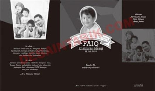 Koleksi Contoh serta Inspirasi Desain Undangan KHitanan Full Warna dan Hitam Putih Terbaru