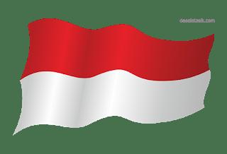 Bendera Flag indonesaia Vektor, CDR PNG-desaintasik