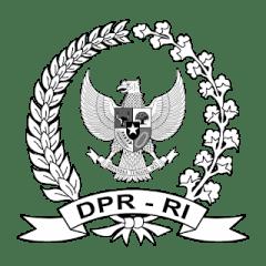 Logo DPR RI Hitam Putih