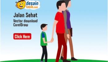 Download Gambar Kartun Jalan Sehat Vector Corel