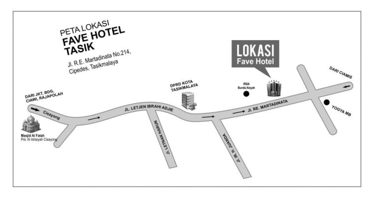 peta lokasi fave hotel tasik-desaintasik
