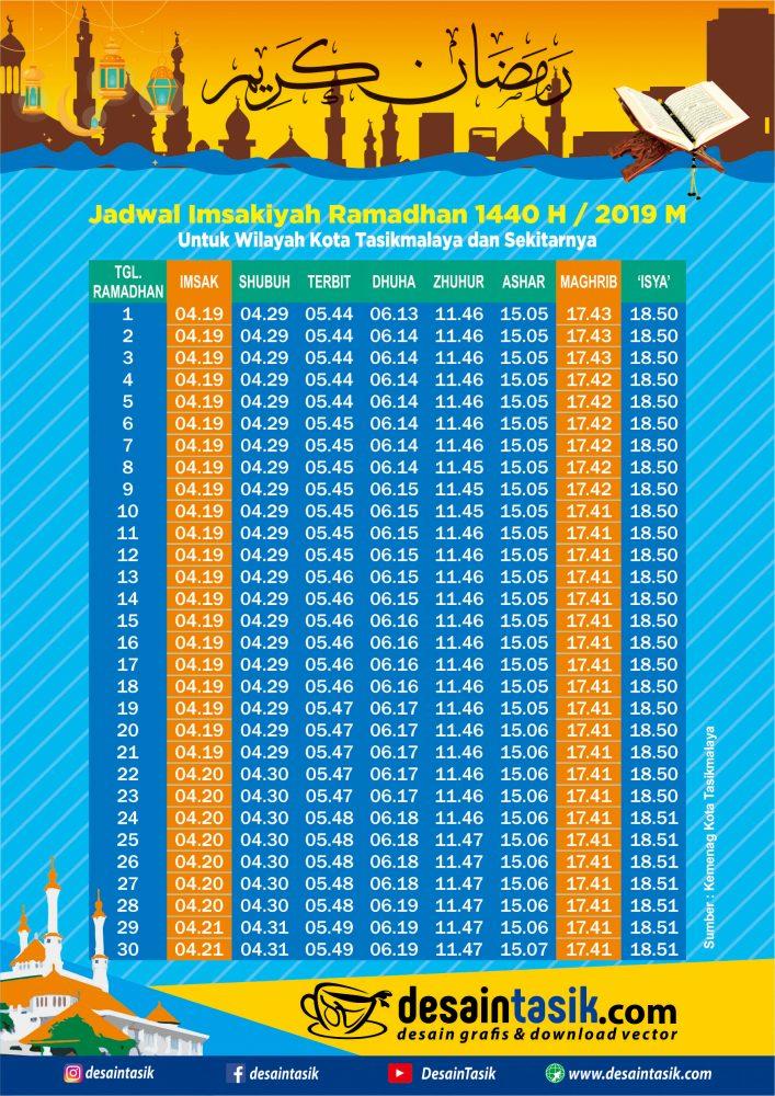 Jadwal imsakiyah 2019 Tasikmalaya