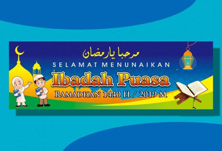 Contoh Desain Banner Puasa Ramadhan 1440 H/2019M ...