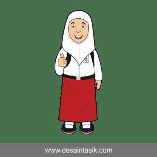 Kartun Anak Sekolah Vector Png Jpg Desaintasik Com