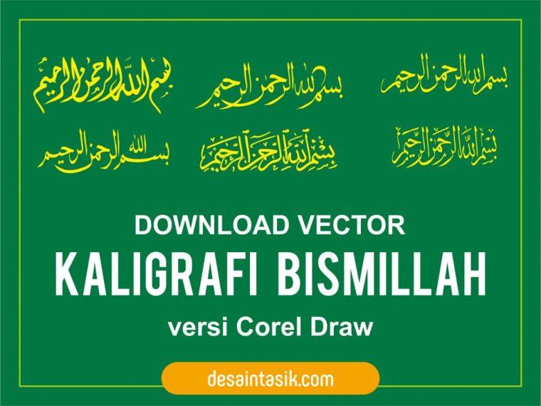 Tulisan Kaligrafi Bismillah Vector Corel  Download
