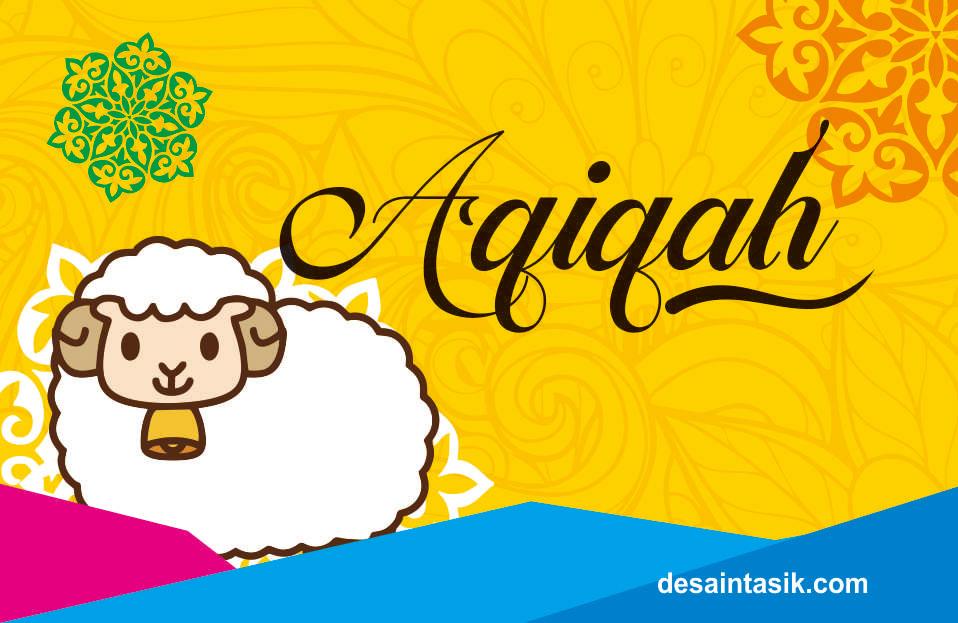 Desain Undangan Label Syukuran AQIQAH