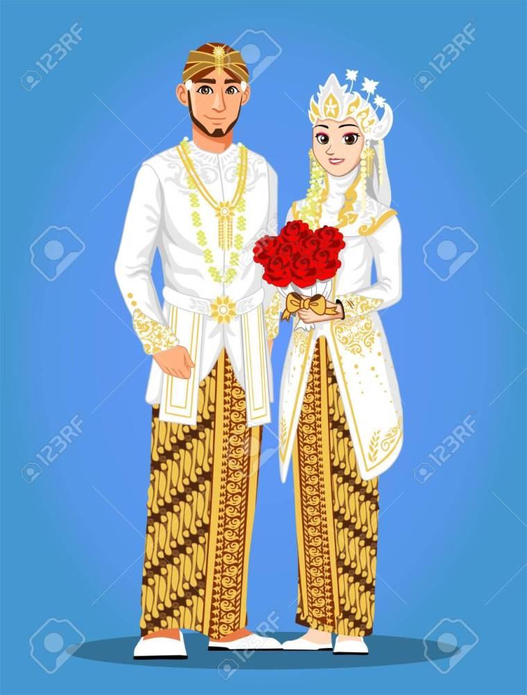 Pengantin Jawa Png : pengantin, Gambar, Pengantin, Kartun, Vector, Desaintasik.com