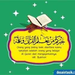 desaintasik-kaligrafi-hadist-belajar-alquran