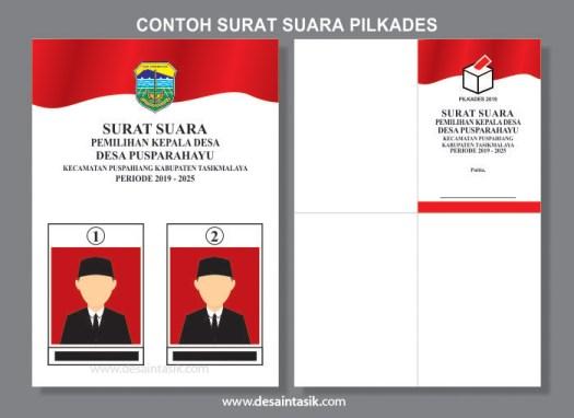 Download Contoh Surat Suara Pemilihan Kepala Desa (Pilkades)