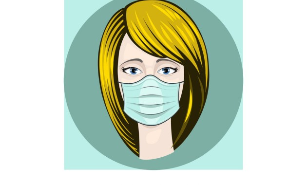 gambar orang pakai masker perempuan