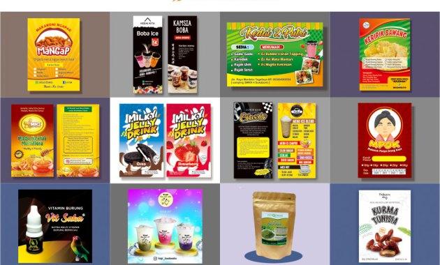 Desain Stiker Makanan-minuman