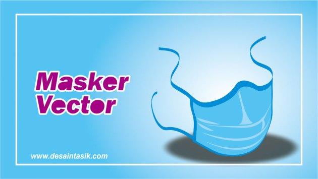 Ilustrasi gambar masker vektor