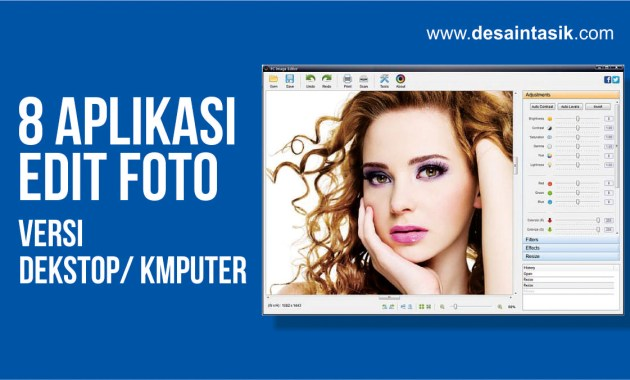 8 Aplikasi Desain Edit Foto komputer yang Paling Direkomendasikan