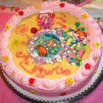 gâteau avec la crème
