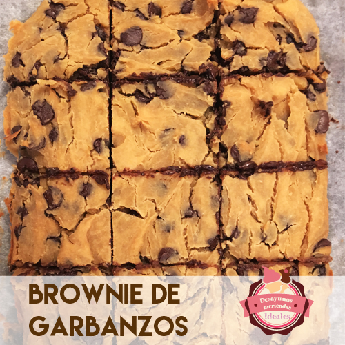 brownie de garbanzos