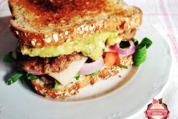 sandwich con guacamole