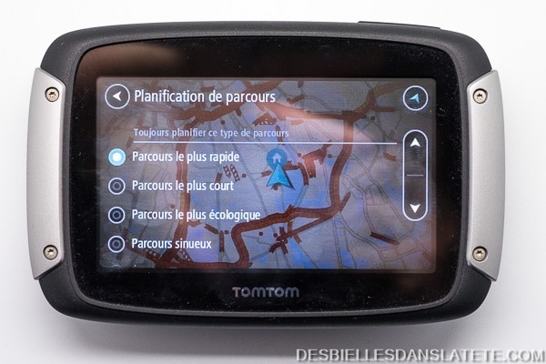 test tomtom rider 410 gps moto parcours sinueux. Black Bedroom Furniture Sets. Home Design Ideas