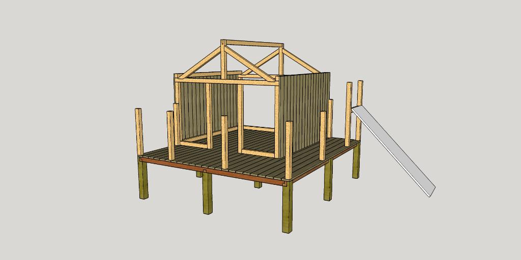 cabane en bois palette