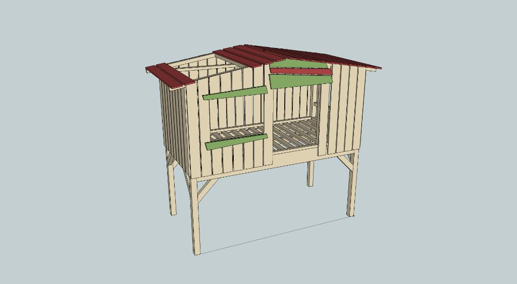 fabrication cabane en bois